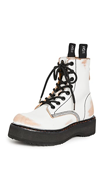 R13 单堆叠系带靴