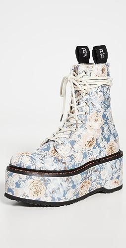 R13 - 双堆叠环绕式系带靴