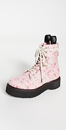 R13 - Single Stack Lace Up Boots