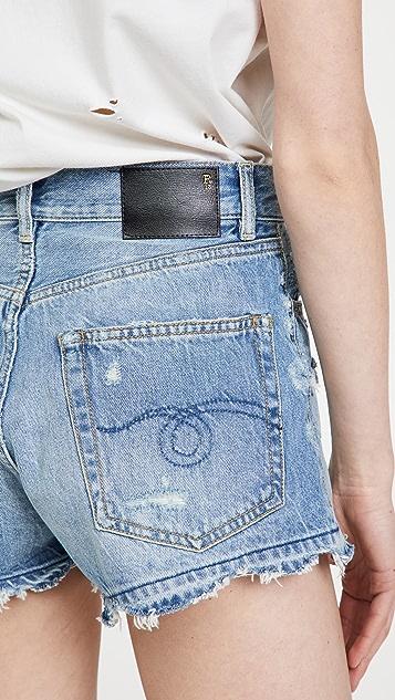 R13 男友风格短裤