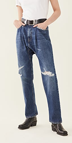 R13 - Pleated Drop Jeans