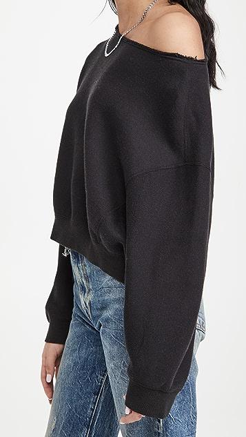 R13 Off Shoulder Patti Sweatshirt