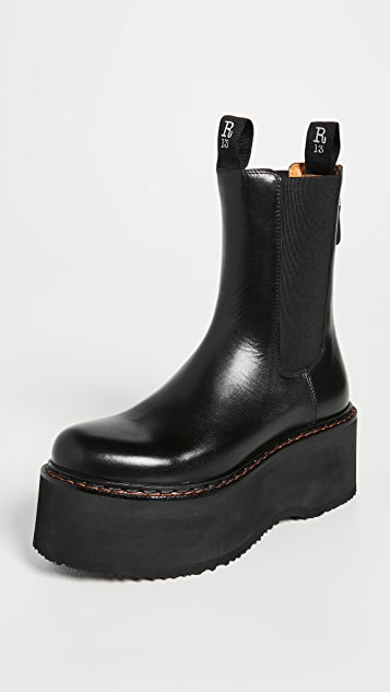 R13 Double Stack Chelsea Boots