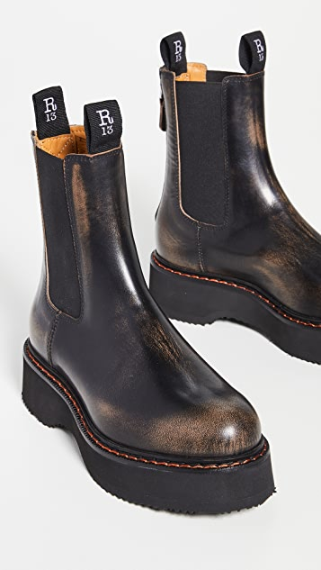 R13 Single Stack Chelsea Boots