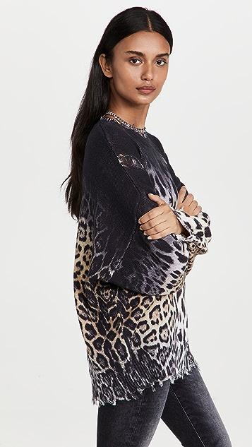R13 Faded Leopard Oversize Sweater