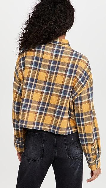 R13 Oversized Cropped Shirt
