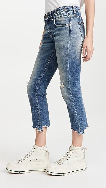 R13 磨损直脚牛仔裤