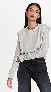 R13 Folded In Shoulder Pad Sweatshirt