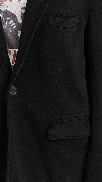 R13 Ragged 酸性黑色西装外观