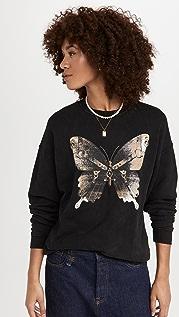 R13 Bondage Butterfly Oversized Sweatshirt