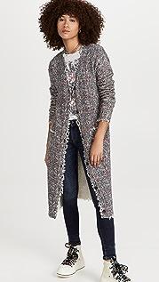 R13 Printed Tweed Cardi