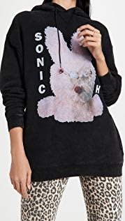 R13 Sonic Youth Bunny Oversized Hoodie