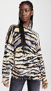 R13 Multi Zebra Sweater