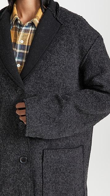 R13 毛边剪裁外套