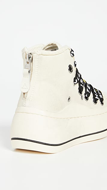 R13 Double Grommet High Top Sneakers