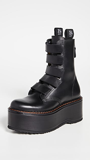 R13 Velcro Double Stack Boots