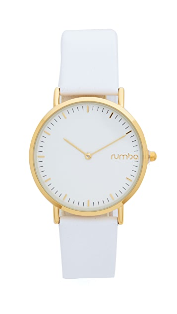 RumbaTime SoHo Leather Snow Patrol Watch