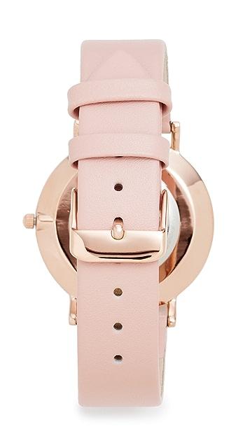 RumbaTime SoHo Leather Blush Watch