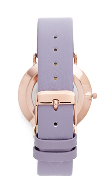 RumbaTime SoHo Leather Lilac Watch