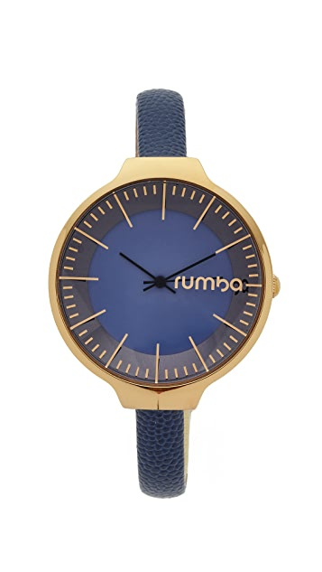 RumbaTime Orchard Leather Midnight Blue Watch