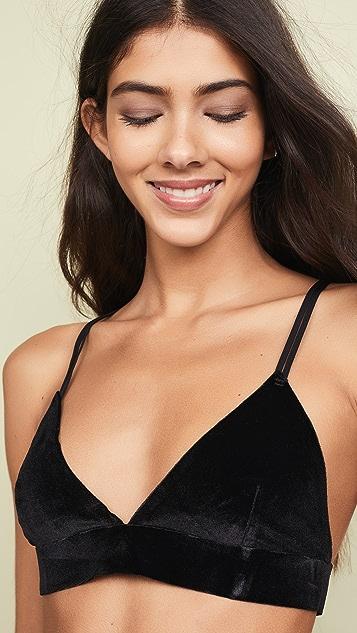 Real Underwear Velvet Triangle Bra