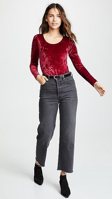 Real Underwear Crushed Velvet Bodysuit