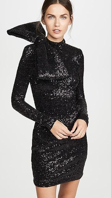 Rebecca Vallance Мини-платье Mica с длинными рукавами и блестками
