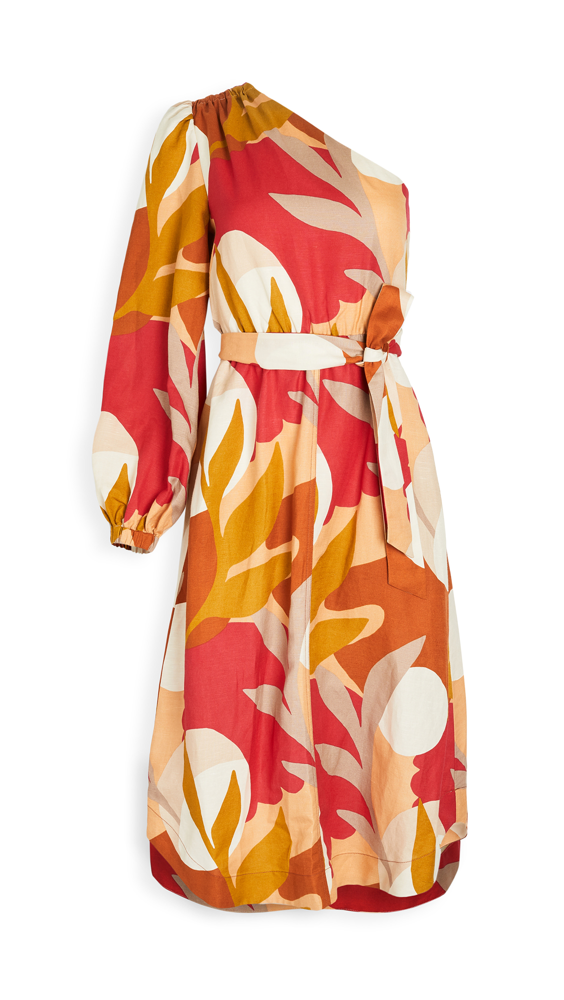 Rebecca Vallance Sangria One Sleeve Midi Dress