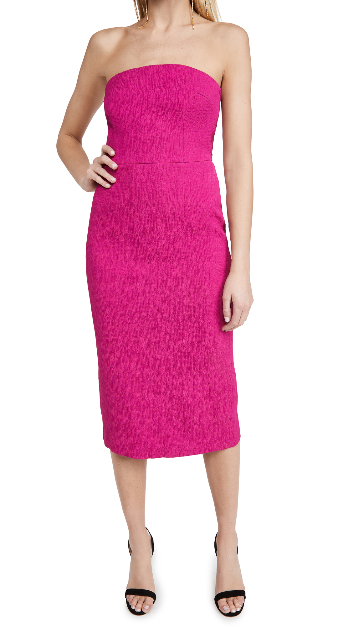 Rebecca Vallance Andie Tie Midi Dress