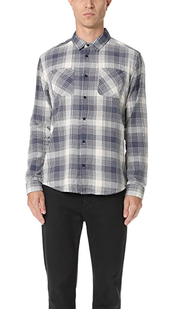RVCA Neutral Plaid Button Down Shirt