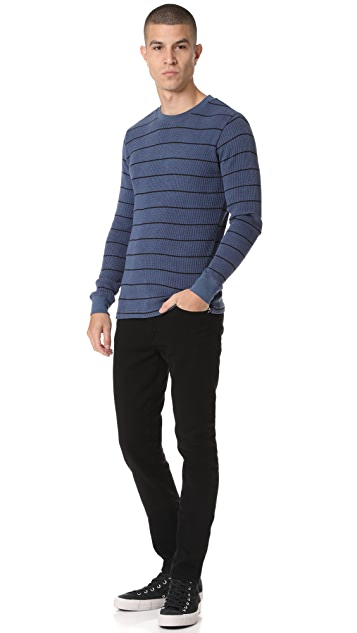 RVCA Neutral Long Sleeve Stripe Tee
