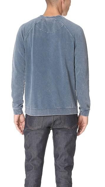 RVCA Neutral Long Sleeve Crew Neck Sweatshirt