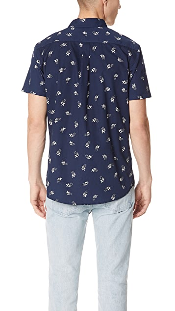 RVCA Kevin Spanky Long Hummingbird Short Sleeve Shirt
