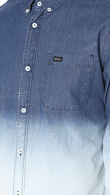 RVCA Chambray Rinsed Shirt