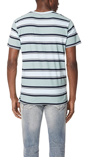 RVCA 4 Stripe Short Sleeve Tee