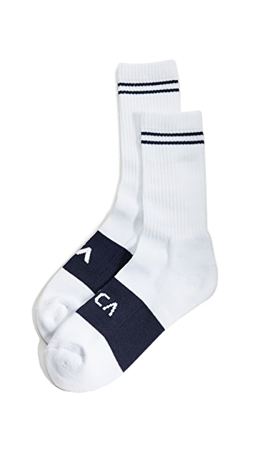 RVCA Basic Block Socks