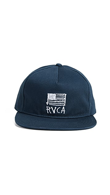 new product a5e16 3b754 RVCA. Flags Unstructured Hat