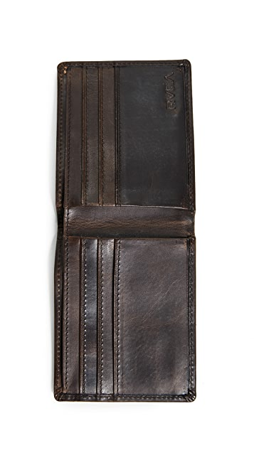 RVCA Dispatch Leather Wallet
