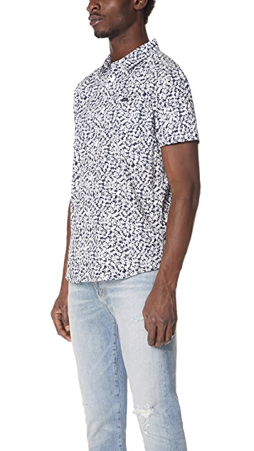RVCA Brong Short Sleeve Button Down Shirt