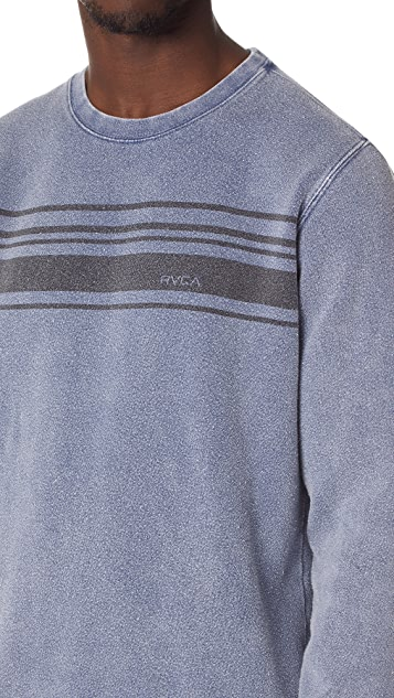 RVCA Stripe Set Crew Neck Sweatshirt