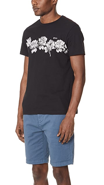 RVCA Oblow Roses Short Sleeve Tee