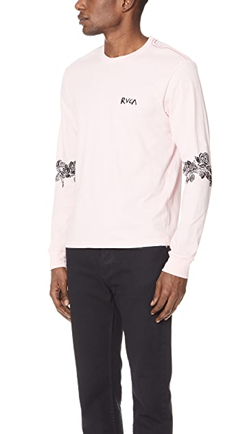 RVCA Oblow Roses Long Sleeve Tee