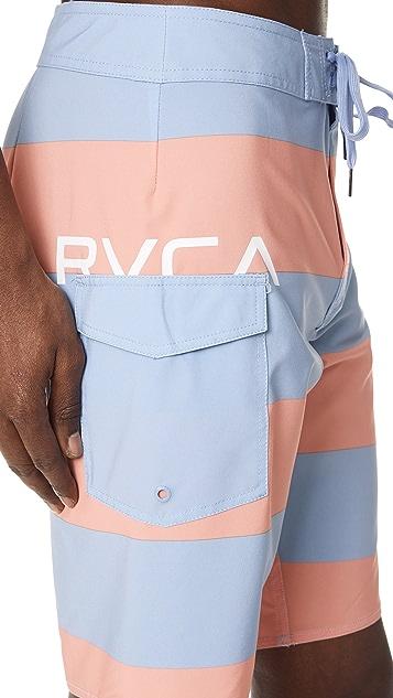 RVCA Uncivil Stripe Trunks