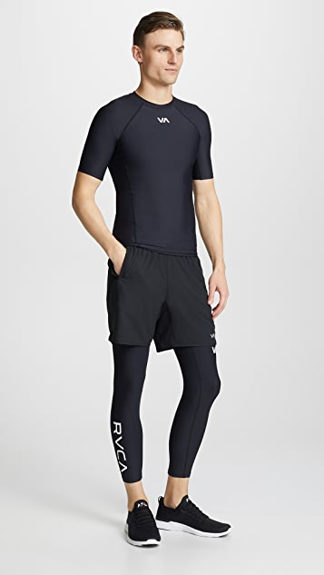 RVCA VA Cropped Compression Pants