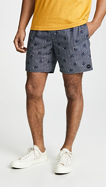 RVCA Newton Elastic Hybrid Trunks