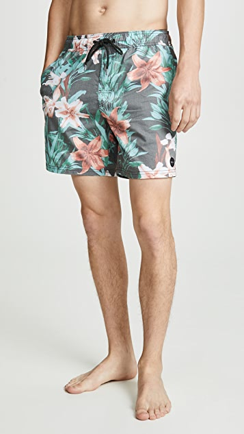RVCA Montague Elastic Trunks