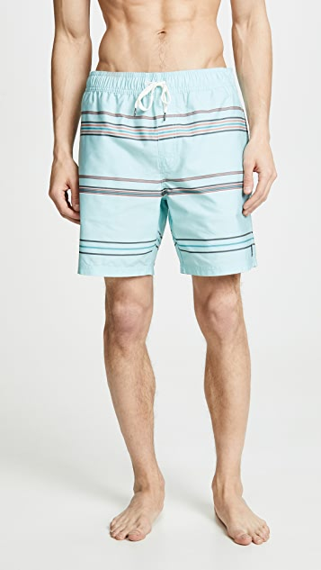 RVCA Shattered Elastic Shorts