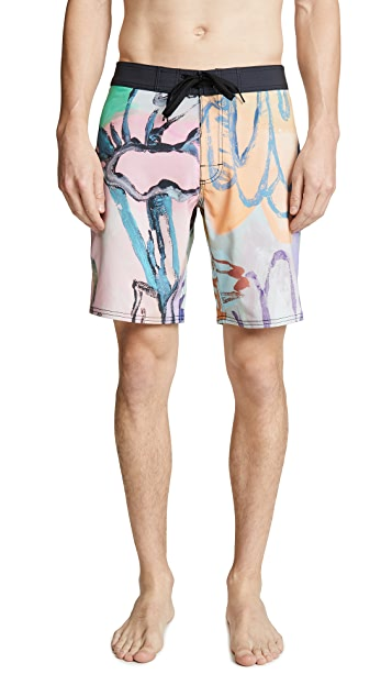 RVCA Sage Floral Trunks