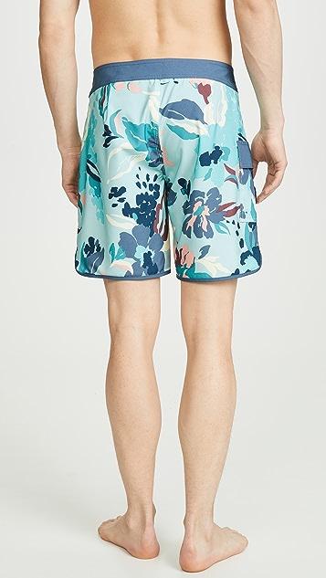 RVCA Eastern Floral Print Swim Trunks