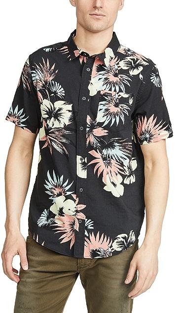 RVCA Short Sleeve Romeo Floral Printed Shirt